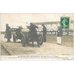 carte postale ancienne 76 DIEPPE. Grand Prix Automobile. Ravitaillement de Cissac avant sa mort 1908