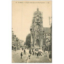 carte postale ancienne 76 ELBEUF. Eglise Saint-Jean rue Guynemer