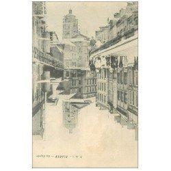 carte postale ancienne 76 ELBEUF. La Rigole animation