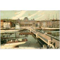 carte postale ancienne 76 LE HAVRE. 1913 La Bourse