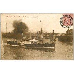 carte postale ancienne 76 LE HAVRE. Bateau de Trouville 1906