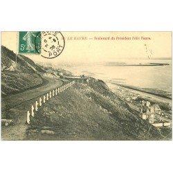 carte postale ancienne 76 LE HAVRE. Boulevard Félix Faure 1908