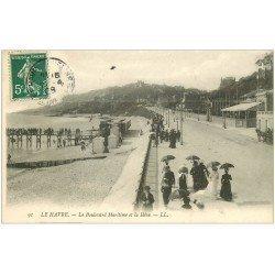 carte postale ancienne 76 LE HAVRE. Boulevard Maritime et Hève 1908
