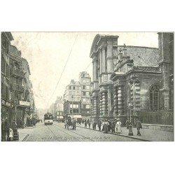 carte postale ancienne 76 LE HAVRE. Eglise Notre-Dame Rue de Paris 1908