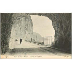 carte postale ancienne 06 CAP ROUX. Tunnel route de Nice à Monaco