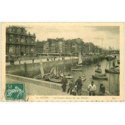carte postale ancienne 76 LE HAVRE. Grand Quai et Musée 1911