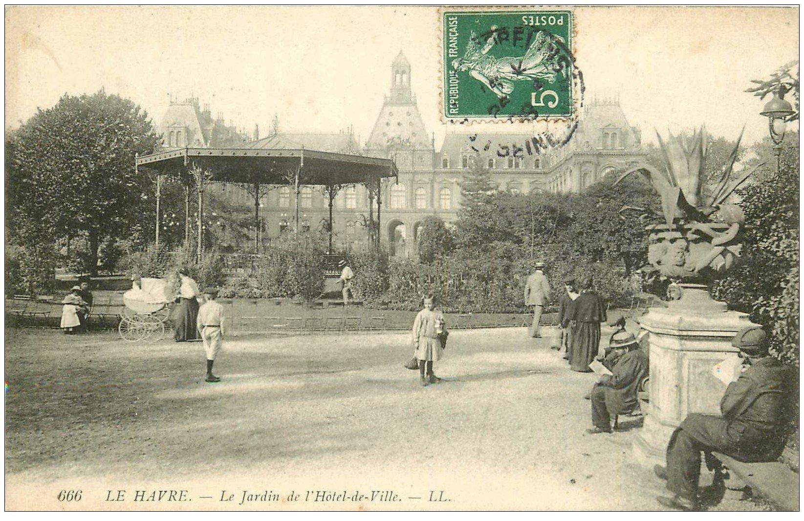 76 le havre jardin h tel de ville 1908 for Boutique hotel le havre