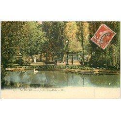 carte postale ancienne 76 LE HAVRE. Jardin Saint-Roch 1913