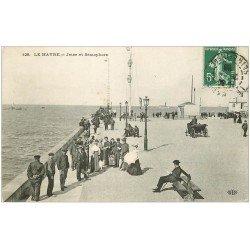 carte postale ancienne 76 LE HAVRE. Jetée et Sémaphore 1908