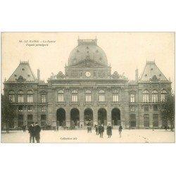 carte postale ancienne 76 LE HAVRE. La Bourse 1911