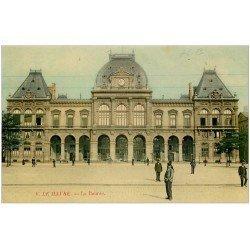 carte postale ancienne 76 LE HAVRE. La Bourse. Carte brillante