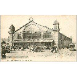 carte postale ancienne 76 LE HAVRE. La Gare