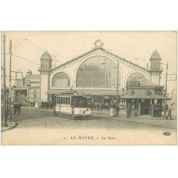 carte postale ancienne 76 LE HAVRE. La Gare 1917