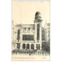 carte postale ancienne 76 ROUEN. Alhambra Théâtre