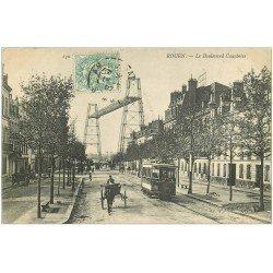 carte postale ancienne 76 ROUEN. Boulevard Gauchoise 1907