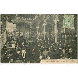 carte postale ancienne 76 ROUEN. Brasserie Restaurant de l'Opéra vers 1906