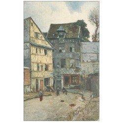 carte postale ancienne 76 ROUEN. Carrefour de la Grande Mesure 1907
