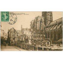 carte postale ancienne 76 ROUEN. Cathédrale Cour d'Albane