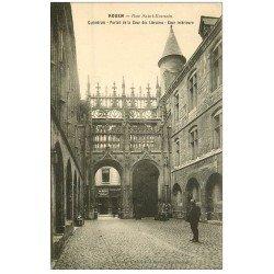 carte postale ancienne 76 ROUEN. Cathédrale Cour des Libraires