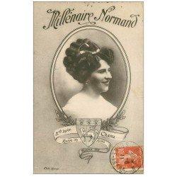 carte postale ancienne 76 ROUEN. Charu Reine des Halles 1911