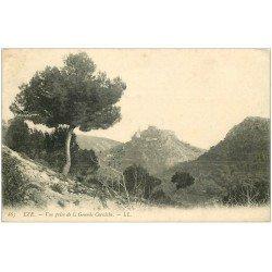 carte postale ancienne 06 EZE. De la Grande Corniche