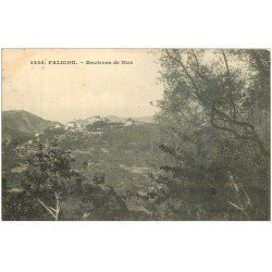 carte postale ancienne 06 FALICON. Le Village vers 1910...