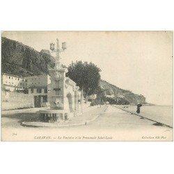 carte postale ancienne 06 GAVARAN. Fontaine et Promenade Saint-Louis