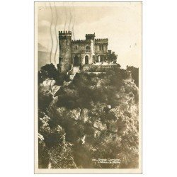 carte postale ancienne 06 GRANDE CORNICHE. Château de Madrid 1936 carte photo