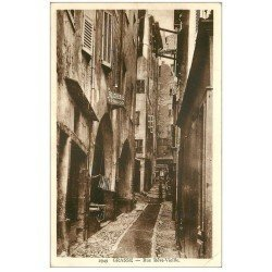 carte postale ancienne 06 GRASSE. Boucherie Baddo rue Rêve-Vieille (mini pli)...