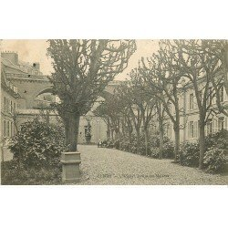 carte postale ancienne 76 ELBEUF. Hôpital Jardin des malades 1905
