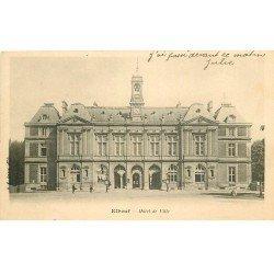 carte postale ancienne 76 ELBEUF. Hôtel de Ville vers 1900