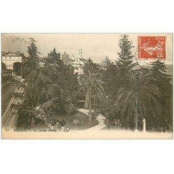carte postale ancienne 06 GRASSE. Le Jardin Public 1917