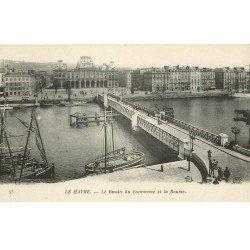 carte postale ancienne 76 LE HAVRE. Bassin du Commerce et Bourse