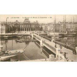 carte postale ancienne 76 LE HAVRE. Bourse et Bassin du Commerce 84