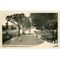 carte postale ancienne 06 GRASSE. Promenade du Cour. Carte Photo