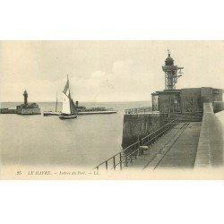 carte postale ancienne 76 LE HAVRE. Entrée du Port 1910