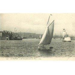 carte postale ancienne 76 LE HAVRE. Nouvelle entrée du Port