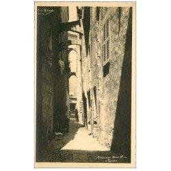 carte postale ancienne 06 GRASSE. Rue Traverse Sans Peur. Photo Richard. Bords dentelés à la ficelle