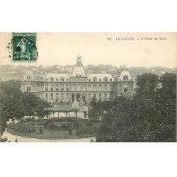 carte postale ancienne 76 LE HAVRE. Hôtel de Ville 1908