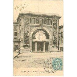 carte postale ancienne 76 ROUEN. Bourse du Travail groupe de Guilloux 1905