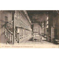 carte postale ancienne 76 ROUEN. Bibliothèque du Tribunal Civil. Pour Draperies à Elbeuf