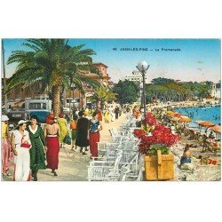 carte postale ancienne 06 JUAN-LES-PINS. La Promenade 1935