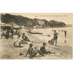 carte postale ancienne 06 JUAN-LES-PINS. Plage et Pinède 1931