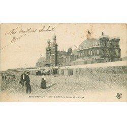 carte postale ancienne 76 DIEPPE. Casino et Plage 1904