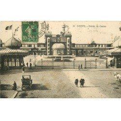 carte postale ancienne 76 DIEPPE. Casino 1923 Entrée