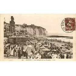 carte postale ancienne 76 DIEPPE. Casino 1926 Plage