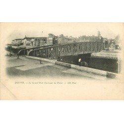 carte postale ancienne 76 DIEPPE. Grand Pont Tournant du Pollet