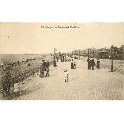carte postale ancienne 76 DIEPPE. Boulevard Maritime n° 55
