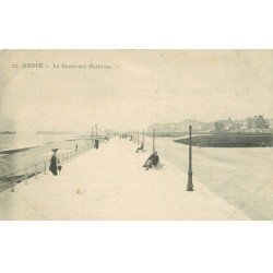 carte postale ancienne 76 DIEPPE. Boulevard Maritime n° 22