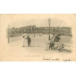 carte postale ancienne 76 DIEPPE. Boulevard Maritime 1904
